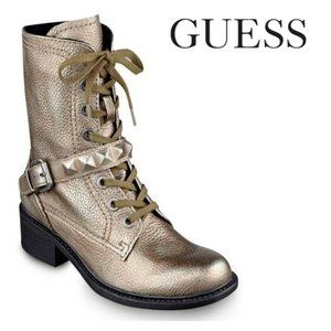 Guess DREW Combat Leather Boots